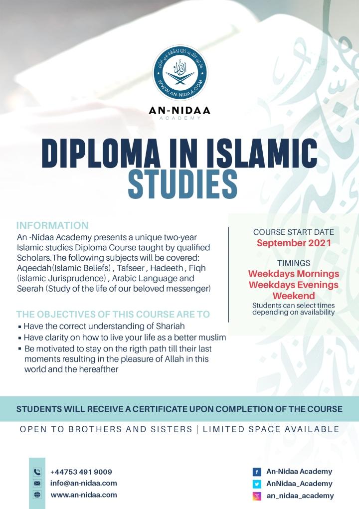 Diploma  in islamic studiesOnline